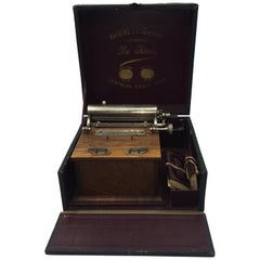 Very Rare 19th Century Cigarette Machine with Original Box, Du Siecle
