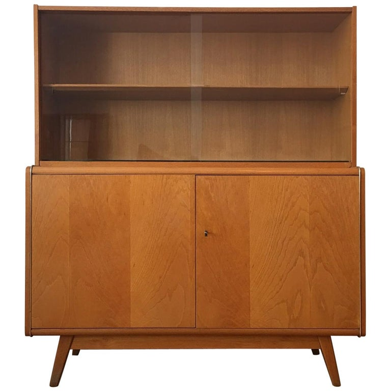 Wooden Sideboard with Bookcase from Jitona, 1960s For Sale