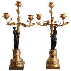 Paar Louis XVI-Leuchter
