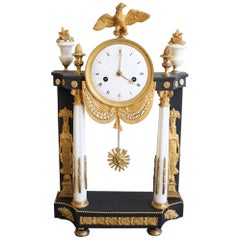 French Empire Clock Return from Egypt