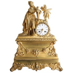 Charles X Oriental Clock Woman with Jug