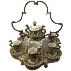Vintage Coffee Service Capodimonte Porcelain Demitasse, 1950s
