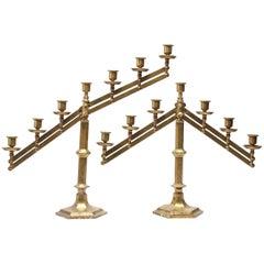 Rostand Judaica Ecclesiastical Brass Candelabras