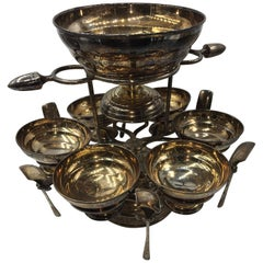 Caviar Serving Set, Silver Plated