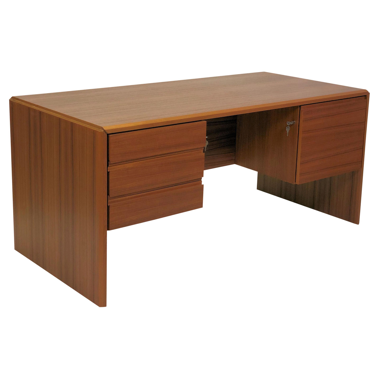 1980s, Danish Desk in Teak by Silberg Mobler