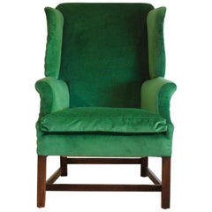 18th Century English Wingback Armchair