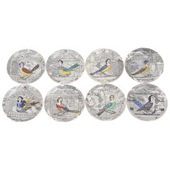 Set of Eight Midcentury 'Le Arpie Gentili' Coasters by Piero Fornasetti