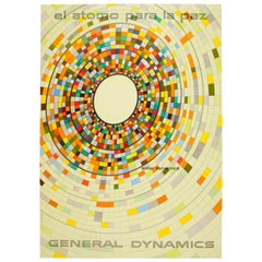 Original Vintage General Dynamics Poster Solar Dynamics Atoms for Peace Nitsche