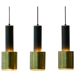 "Alvar Aalto ; 3 Early ""Hand Grenade"" Lamps Stamped by Valaistustyo Ky, 1952"