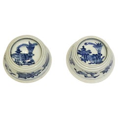 Chinese Blue and White Porcelain Salt Cellars, Kangxi