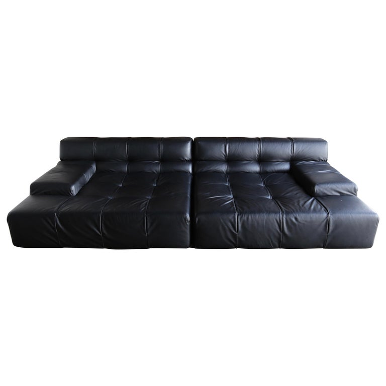 B B Italia Tufty Time Leather Sofa By Patricia Urquiola For Sale At