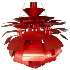 Red Artichoke Chandelier