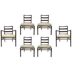 T.H. Robsjohn-Gibbings Set of Six Ladder Back Dining Chairs