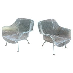 Russell Woodard Pair of Iron Lounge Chairs