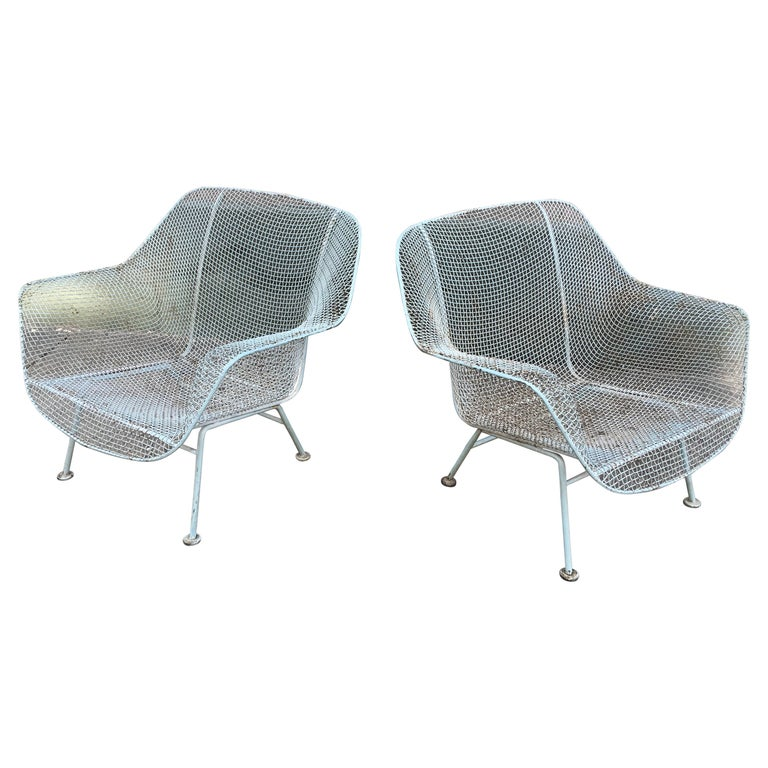 Outstanding Russell Woodard Pair Of Iron Lounge Chairs Squirreltailoven Fun Painted Chair Ideas Images Squirreltailovenorg
