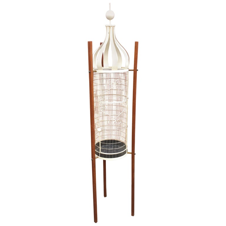 Frederick Weinberg Standing Birdcage For Sale