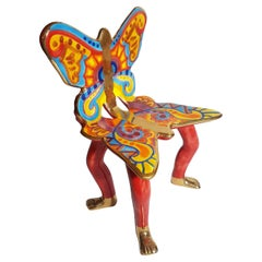 Pedro Friedeberg Ceramic Butterfly Chair Sculpture