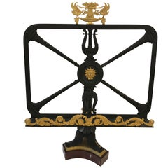 Breathtaking Bronze Dore Neoclassical Bookstand or Short Table Lectern