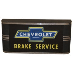 1950s Chevrolet Brake Service Department Sign