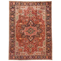 Early 20th Century Antique Heriz Rug