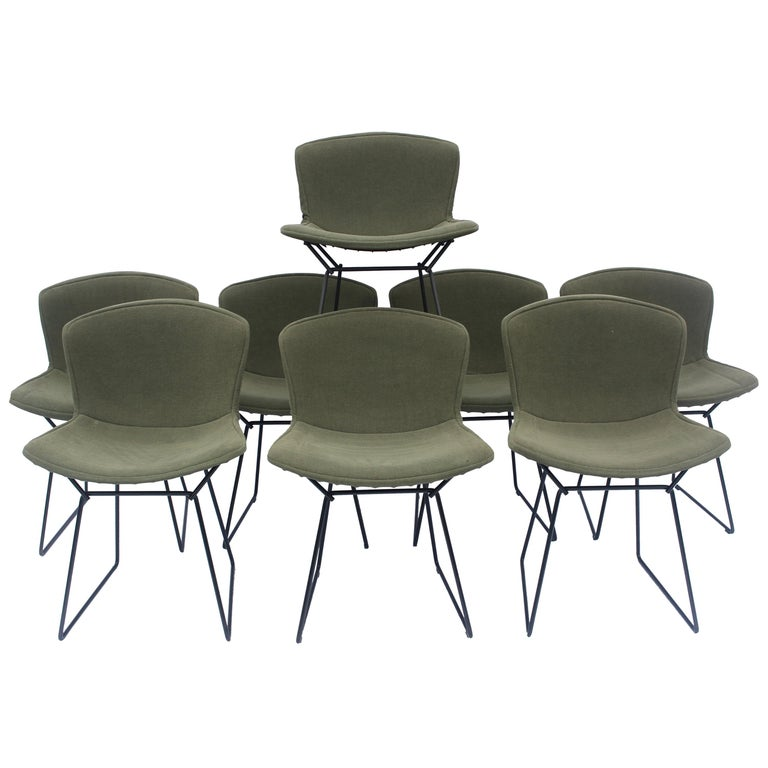 Set of 6 or 8 Harry Bertoia for Knoll Wire Chairs, 1960s-1970s For Sale