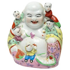 Chinese Famille Rose Porcelain Hotei Laughing Buddha