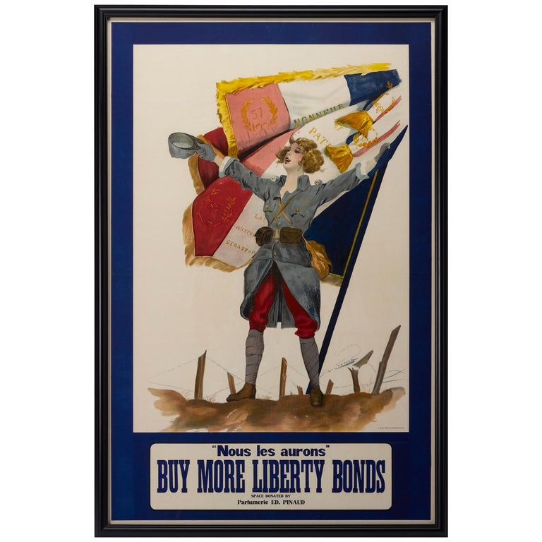 Nous Les Aurons / Buy More Liberty Bonds WWI French Poster, circa 1918 For Sale