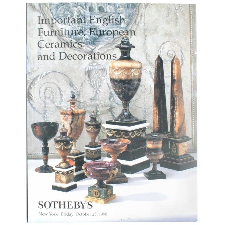 sotheby s englische mobel europaische keramikwaren und dekoration 1