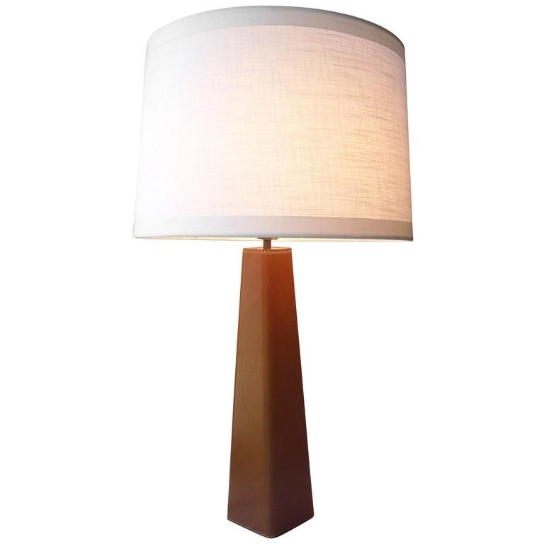 Illums Bolighus Leather Table Lamp Designed by Lisa Johansson Pape, Denmark For Sale