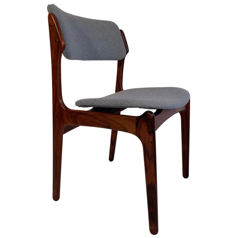 Set of 8 Erik Buch Rosewood Dining Chairs Denmark For Sale