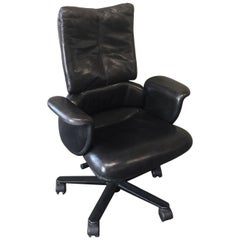 Executive High Back Leather Office Chair by Geoff Hollington for Herman Miller