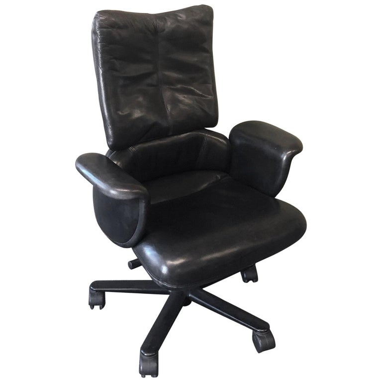 Executive High Back Leather Office Chair By Geoff