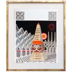 Pedro Friedeberg Painting Obelisco Obelisco Hegeliano