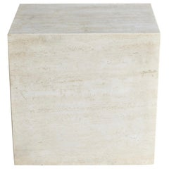 Travertine Pedestal, circa 1975