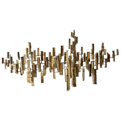 1960s, Abstract Metal Wall Sculpture by California Artist Tony Melendy