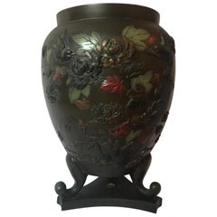 Early 20th Century Taisho Period '1912-1926' Japanese Three Footed Bronze Vase