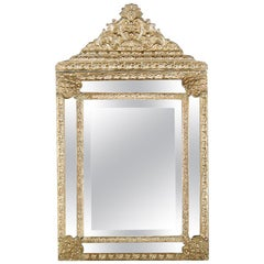 French Repousse Mirror from Paris