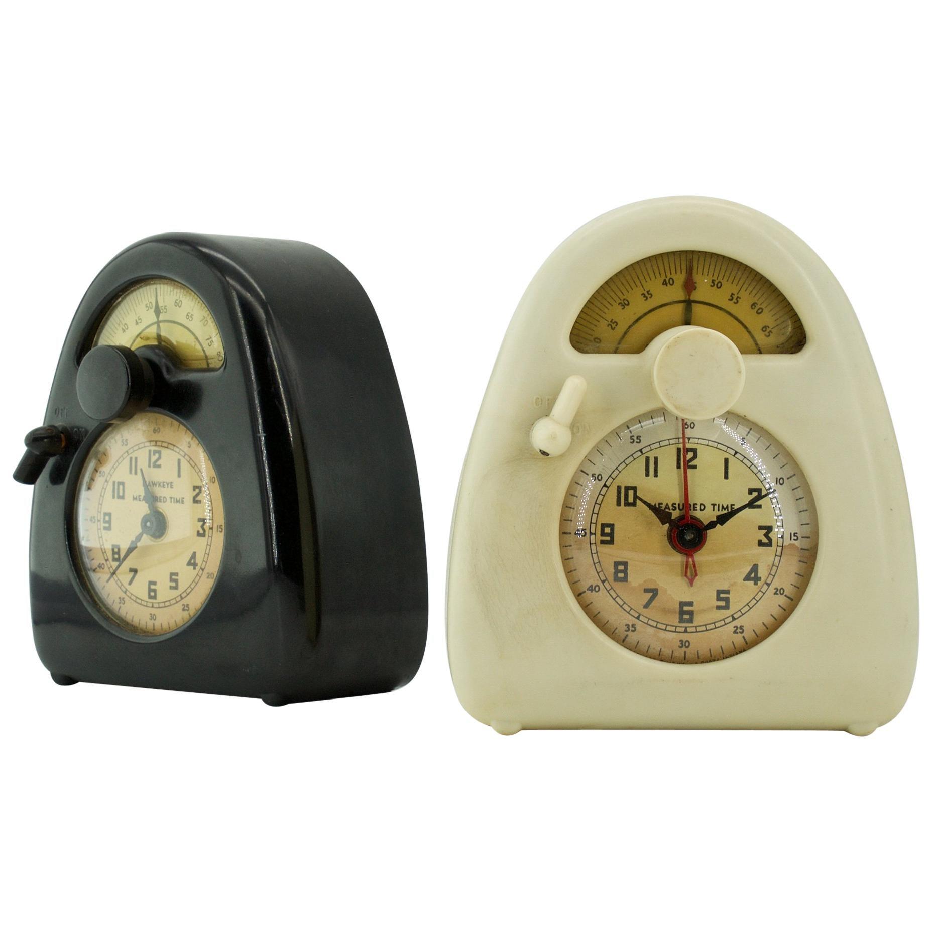 1940s Isamu Noguchi Black+White Train Clock Modernist Japanese Industrial Design