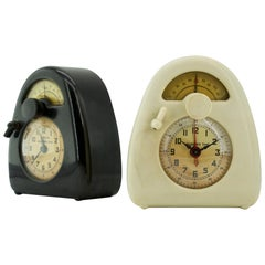 Isamu Noguchi White Bakelite Train Clock Art Deco Relics Industrial Design