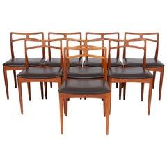 1960s Set of 8 Teak Johannes Andersen Model 94 Dining Chairs Christian Linneberg
