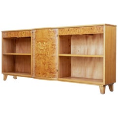 Mid-20th Century Scandinavian Elm Low Bookcase