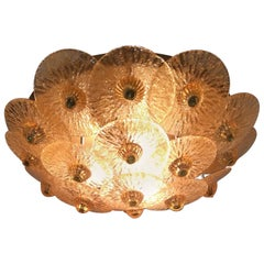 Golden Crystal Ceiling Light, Small Model