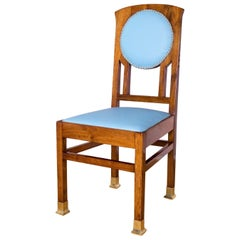 Hungary Secession desk chair walnuts