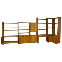 """Elm Bookcase Chapo with Desk """"Go"""""""