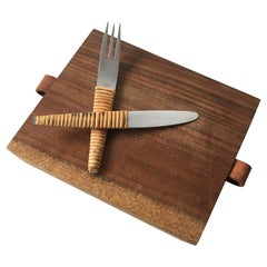 Carl Auböck Picnic Board with Knife and Fork, Austria, 1950s