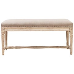 Late 19th Century Gustavian Bench from Sweden