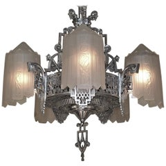 Grande Dame of American Art Deco Lighting, circa 1932