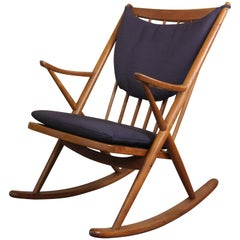 Danish Rocking Chair by Frank Reenskaug for Brahmin Mobler