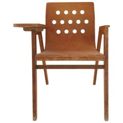 Roland Rainer Stadthallen Chair with Writing Desk, Austria, 1950s