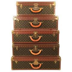 "Louis Vuitton Monogram Canvas Alzer Suitcase Collection ""The Pyramide"""